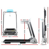 OVICX Electric Treadmill Q2S Home Gym Exercise Machine Fitness Equipment Compact Full Foldable Silver
