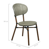 Skyler Style-savvy Outdoor Dining Chair Set of Two Natural White