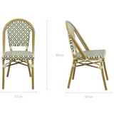 Lana Brown Outdoor Dining Chair Set