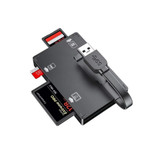 Simplecom CR309 3-Slot SuperSpeed USB 3.0 Card Reader with Card Storage Case