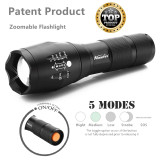 Alonefire Tactical LED Zoomable Flashlight
