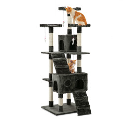 i.Pet Cat Tree 180cm Trees Scratching Post Scratcher Tower Condo House Furniture Wood