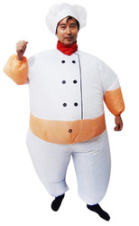 CHEF Fancy Dress Inflatable Suit -Fan Operated Costume