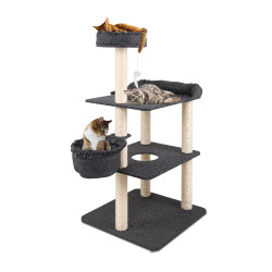 i.Pet Cat Tree 132cm Trees Scratching Post Scratcher Tower Condo House Furniture Wood