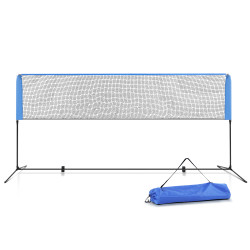 Everfit Portable Sports Net Stand Badminton Volleyball Tennis Soccer 4m 4ft Blue