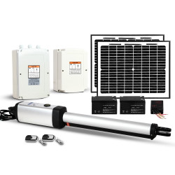 LockMaster 600KG Swing Gate Opener Auto Solar Power Electric Kit Remote Control