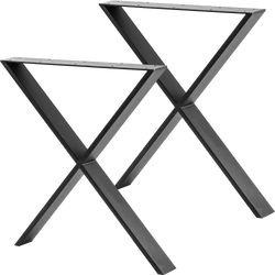 X Shaped Table Bench Desk Legs Retro Industrial Design Fully Welded