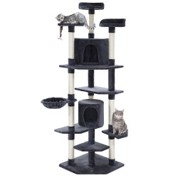 i.Pet Cat Tree 203cm Trees Scratching Post Scratcher Tower Condo House Furniture Wood