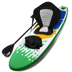 """Weisshorn Stand Up Paddle Boards 10"""" Inflatable SUP Surfboard Paddleboard Kayak Seat Green"""