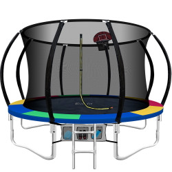 Everfit 10FT Trampoline Round Trampolines Kids Enclosure Safety Net Pad Outdoor Multi-coloured
