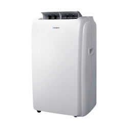 DevantiPortable Air Conditioner Cooling Mobile Fan Cooler Remote Window Kit White 3300W