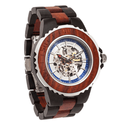 Men Genuine Automatic Rose Ebony Wooden Watches No Battery Needed