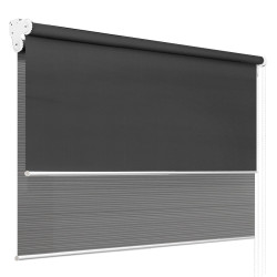 Roller Blinds Blockout Blackout Curtains Window Double Dual Shades 2.1X2.1M GRDR