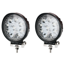 Pair Cree Led Work Lights Round Work Driving Lamp 4WD Offroad Reverse Truck
