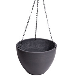 Hanging Grey Plastic Pot with Chain 30cm