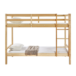 Tracey Solid Pinewood Kids' Single Bunk Bed Natural