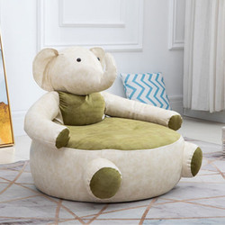 Gregory Grey Green Solid Wooden Structure Elephant Character Sofa / Armchair