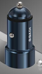 KIVEE UT202 car charger with Dual USB - 2.4 A Dark Blue