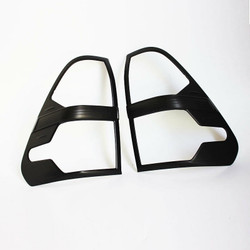 Toyota Hilux Rear Tail Light Covers Matte Black MY 2019