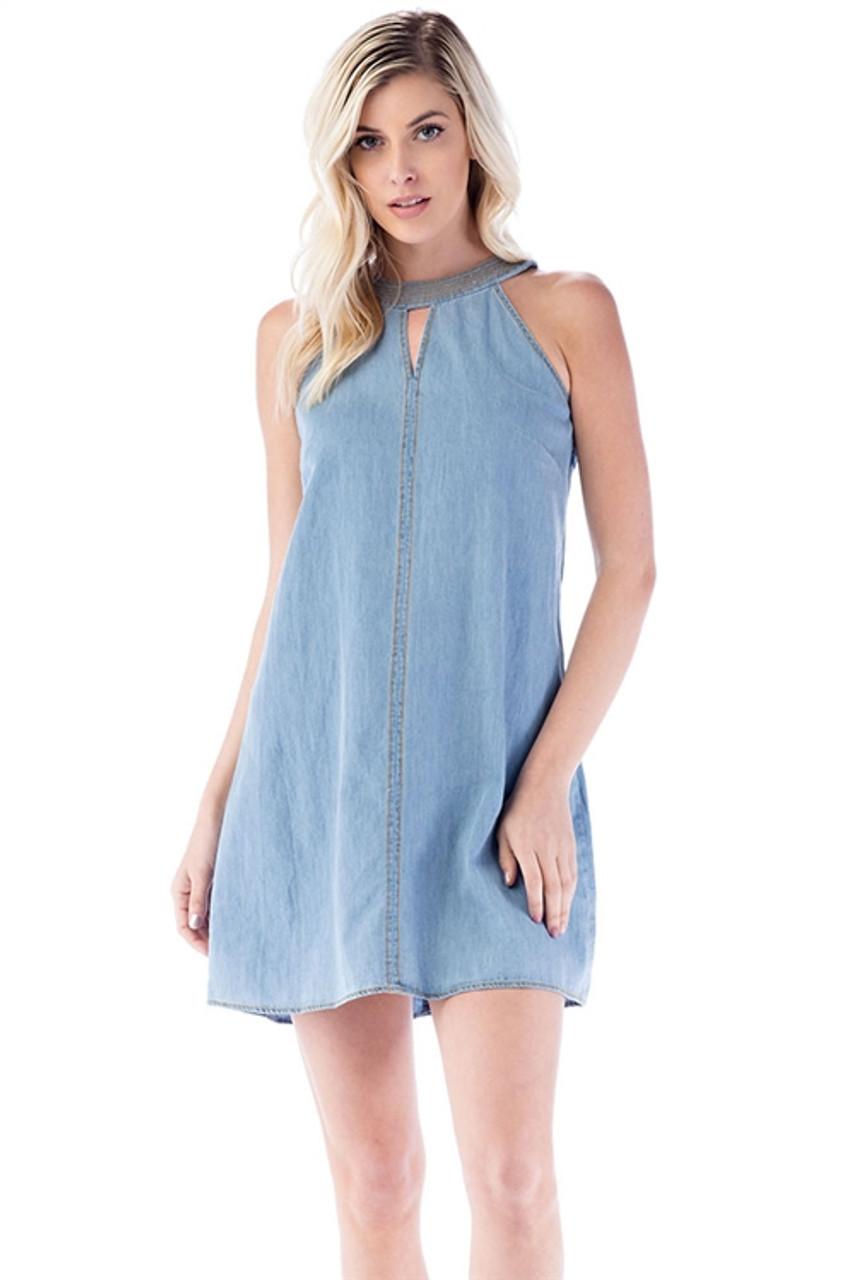 3887fa2a59 Light Blue Jean Dress