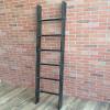 Industrial Pipe Ladder Display with Cedar Wood
