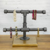 Industrial Style Pipe Jewelry Display - Front