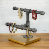 Jewelry Display 2-Tier Industrial Style Pipe Rack | Short