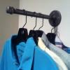 Wall Mounted Coat Hook   Industrial Pipe Wall Hook   Clothes Rack   Metal Clothing Hook   Laundry Room Hanger   Garment Storage