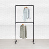 Industrial Pipe Double Row Clothing Rack