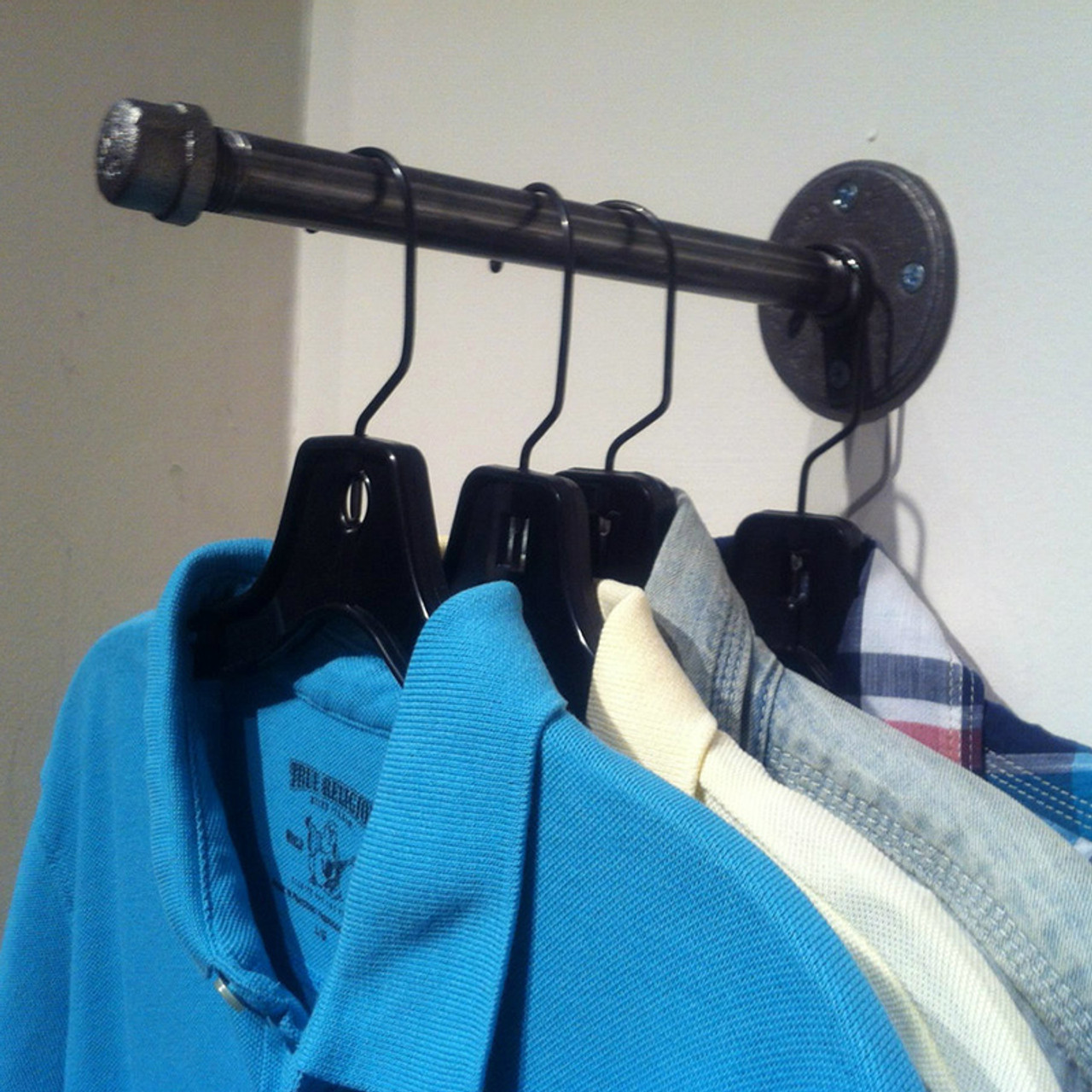Wall Mounted Coat Hook Industrial Pipe Wall Hook