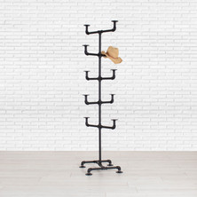 Industrial Pipe Hat Display Rack