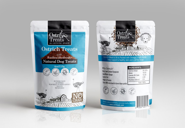 OSTRICH WITH INFUSED ROOIBOS NIBBLET (4OZ)