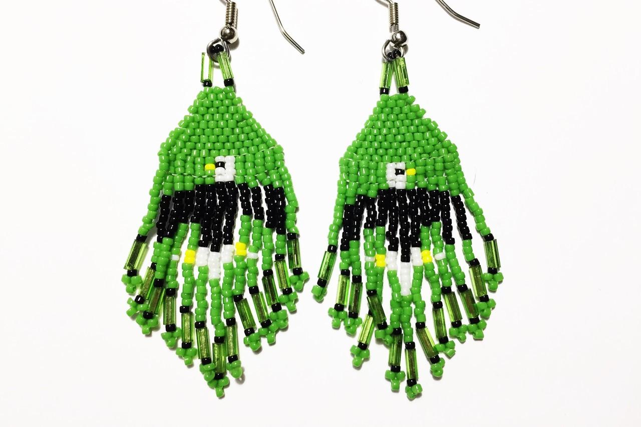 Green Eagle Earrings