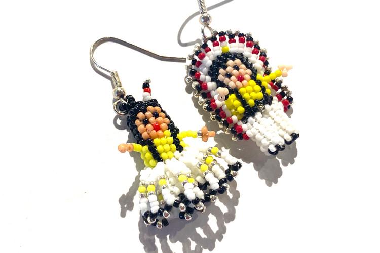 Native Couple Earrings - Yellow