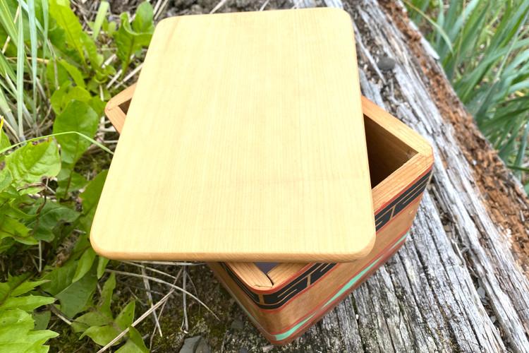 Bentwood Box Geometric Design