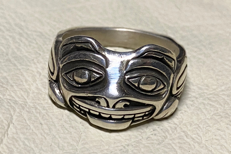 Bear Sterling Silver Ring