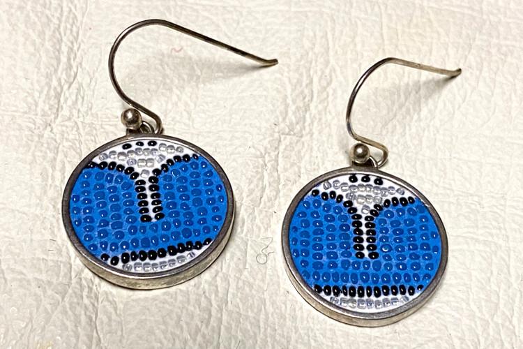 "Micro Mosaic Naazein ""U"" Earrings"