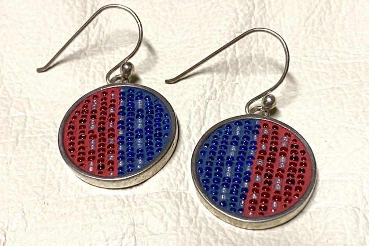 Micro Mosaic No Button Earrings