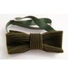 Corduroy bow tie khaki green