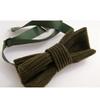 Corduroy bow tie green