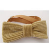 Corduroy bow tie light tan brown