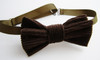 Dark brown corduroy bow tie