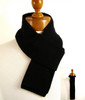 Mens skinny black wool scarf