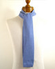 Skinny Knitted Wool Scarf Light Blue NEW