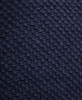 Skinny Knitted Wool Scarf Navy Blue NEW