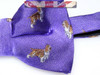 Mens Dog Bow Tie Purple Silk NEW