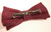 Dusty Pink Donegal Tweed Clip-On Bow Tie
