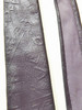 Embossed leather tie