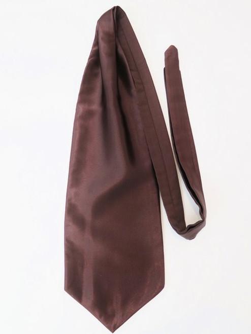 Dark brown wedding cravat