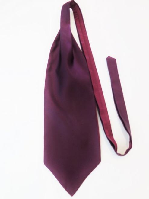 Plum wedding cravat